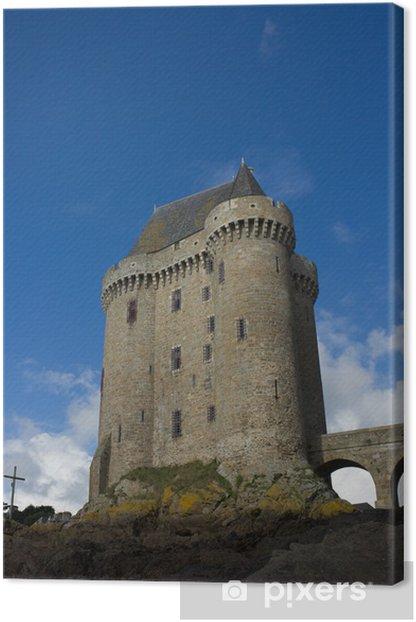 Leinwandbild Solidor Turm, la Tour Solidor, Saint Malo, Frankreich - Europa