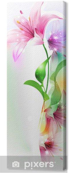 Leinwandbild Sommer oder Frühling Vektor-Illustration für frisches Design - Kunst und Gestaltung