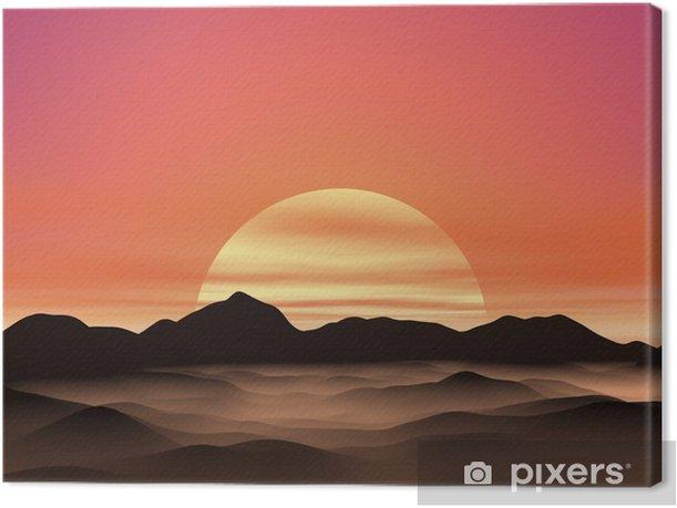 Leinwandbild Sonnenaufgang - Himmel