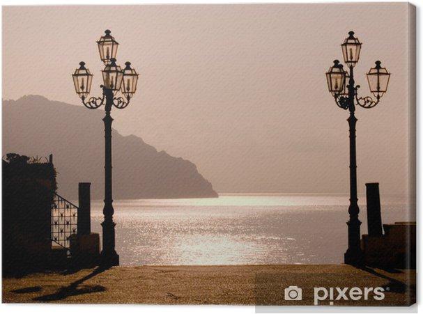 Leinwandbild Sonnenuntergang an der Küste von Amalfi - Urlaub