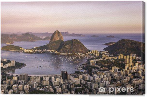 Leinwandbild Sonnenuntergang über Rio de Janeiro, Brasilien - Brasilien