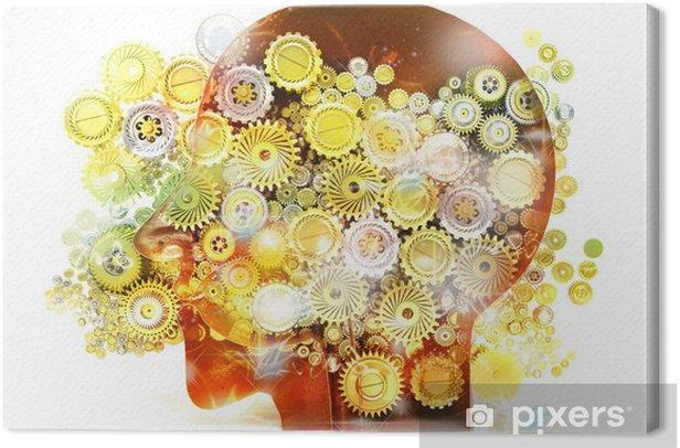 Leinwandbild Speicher, Psychologie, Genie, Ideen, Kreativität, Mechanismen - Körperteile