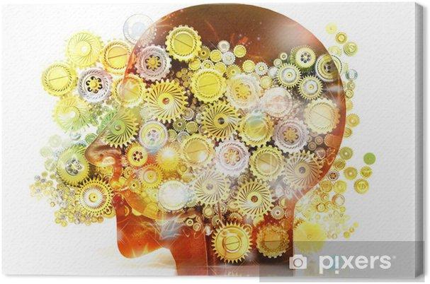 Leinwandbild Speicher Psychologie Genie Ideen Kreativitat