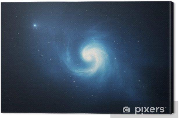 Leinwandbild Spiral wirbelnde Galaxie - Weltall