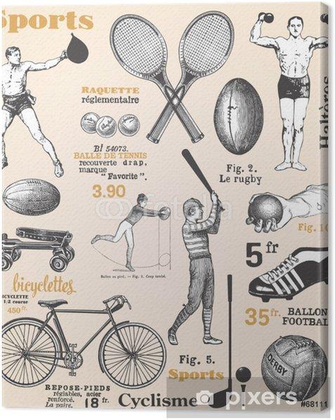 Leinwandbild Sport - Poster mit Französisch Text - Teamsport