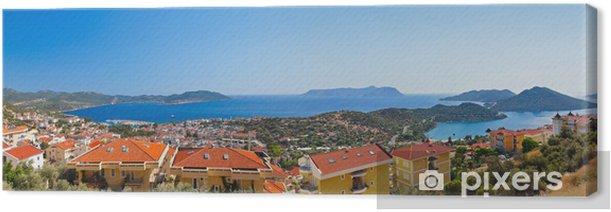 Leinwandbild Stadt Kas, Türkei - Urlaub