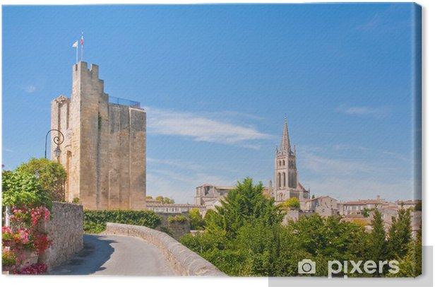 Leinwandbild Stadtbild von Zentrum von Saint-Emilion, Frankreich - Europa