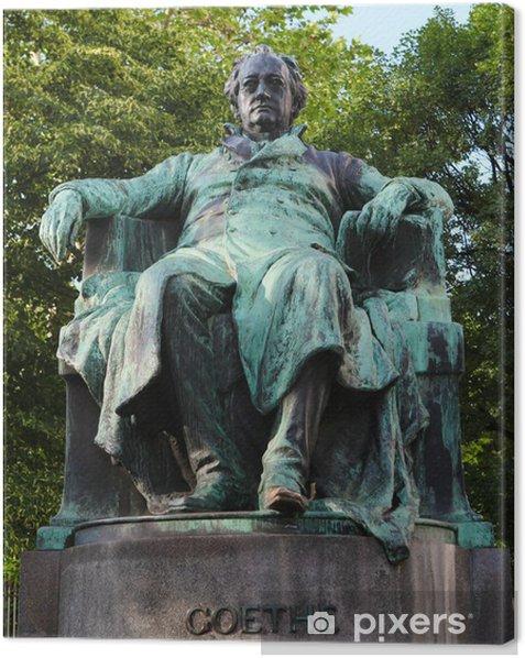 Leinwandbild Statue des berühmten deutschen Dichters Goethe in Wien - Europäische Städte