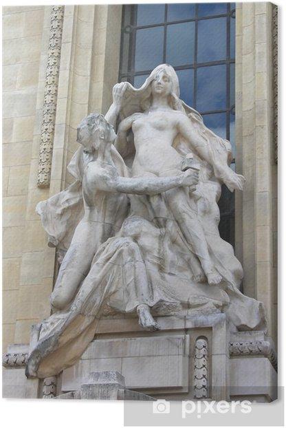 Leinwandbild Statue in Petit Palace. Paris. Frankreich - Europäische Städte