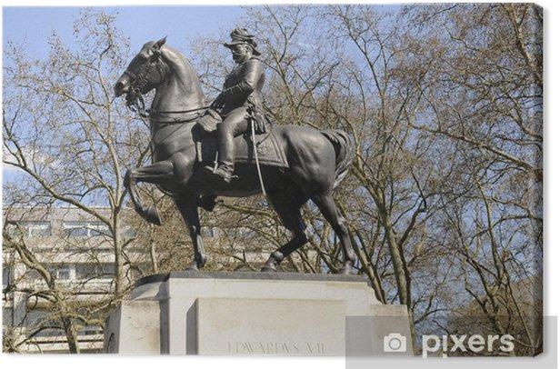 Leinwandbild Statue von König Edward VII. - Europäische Städte
