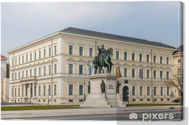 Leinwandbild Statue von Ludwig I - München, Bayern, Deutschland - Europa