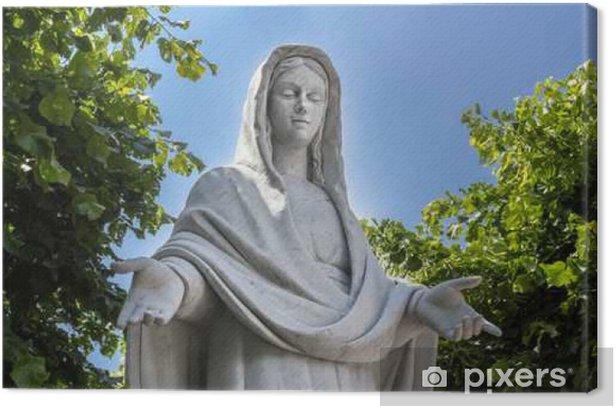 Leinwandbild Statue von Virgina Mary - Gebäude und Architektur