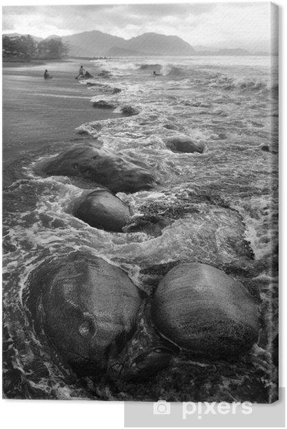 Leinwandbild Steinlandschaft - Wasser