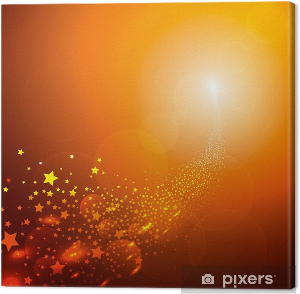Leinwandbild Sternschnuppe Schweif Meteorit Hintergrund Vorlage