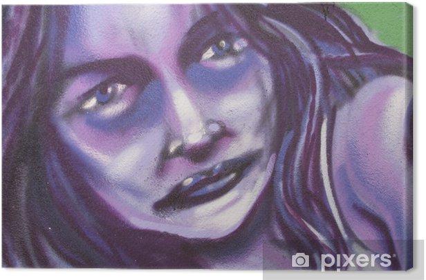 Leinwandbild Stiftung, Graffiti mujer, künstlerisch Bürger - Themen