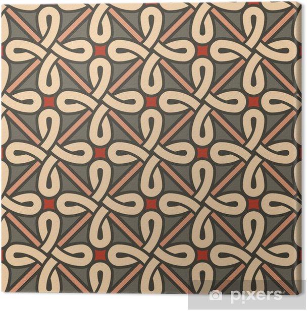 Leinwandbild Stilvollen geometrischen Ornament - Hintergründe
