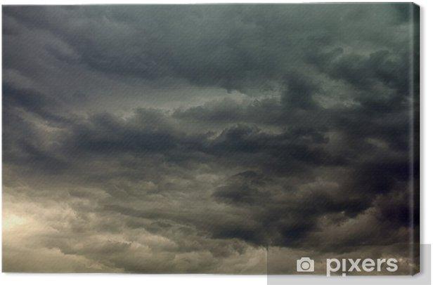 Leinwandbild Stormy Wolken - Himmel