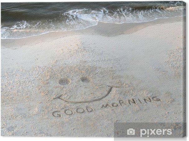 Leinwandbild Strand Guten Morgen Glückliches Gesicht