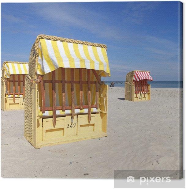 Leinwandbild Strandkorb - Urlaub