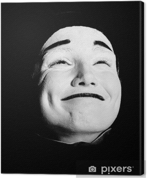 Leinwandbild Street mime. - Gesicht