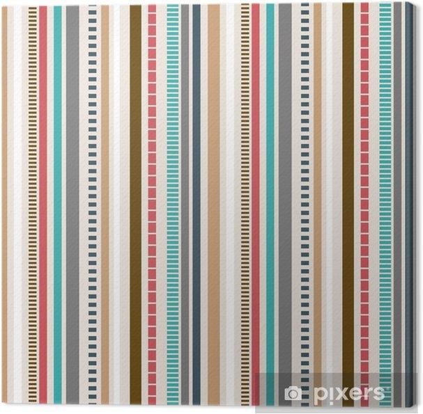 Retro Farben.Leinwandbild Streifen Nahtlose Muster Retro Farben Muster
