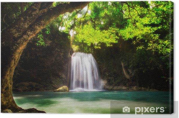 Leinwandbild Stufe fünf der Erawan Wasserfall - Themen