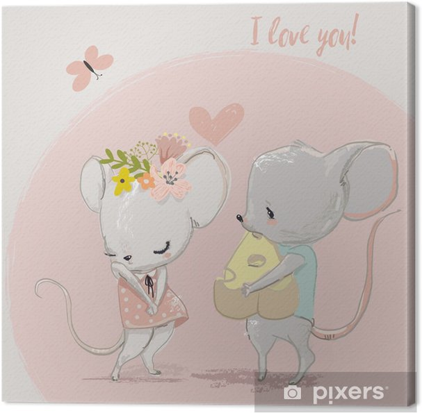 Leinwandbild Süße Maus Paar Pixers Wir Leben Um Zu Verändern