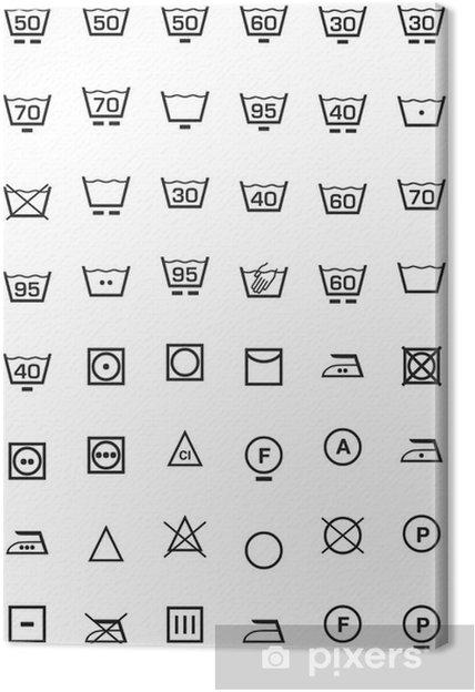 Leinwandbild Symbole Gesetzt Und Waschmaschine Pixers Wir Leben