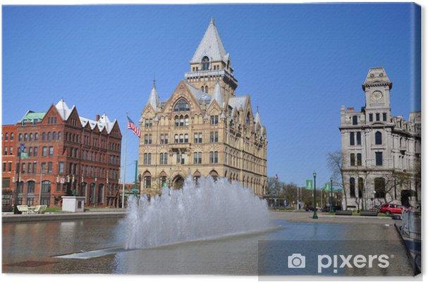 Leinwandbild Syracuse Sparkasse, Clinton Platz, Syracuse, New York State - Amerika