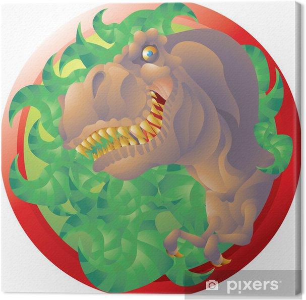 Leinwandbild T rex Büste Emblem - Wandtattoo