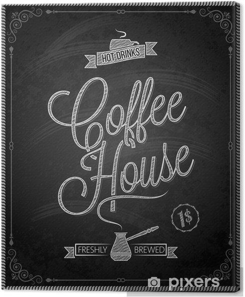 Leinwandbild Tafel - frame Kaffee-Menü - Gerichte
