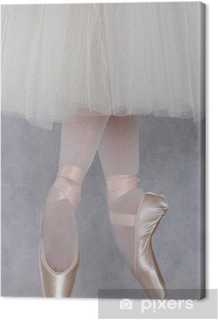 Leinwandbild Tänzerin im Ballett pointe - Themen