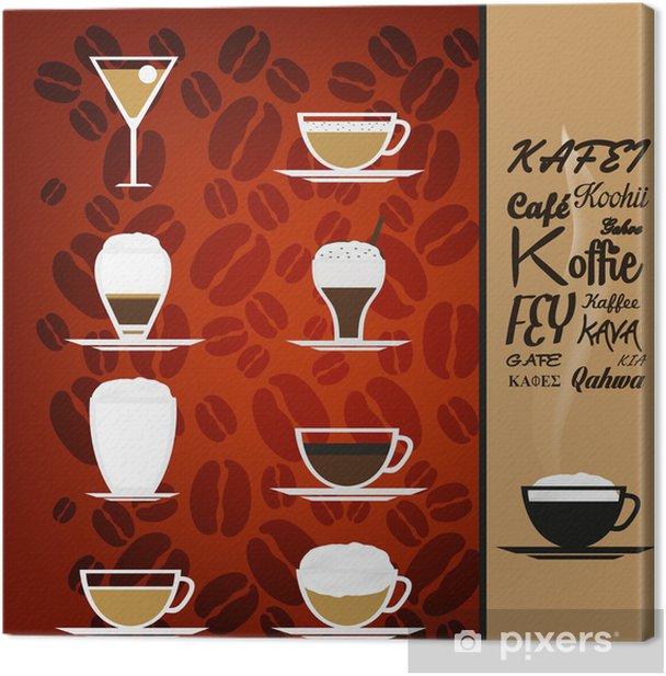 Leinwandbild Tassen Kaffee - Restaurant - Gerichte