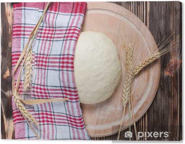 Leinwandbild Teig - Essen