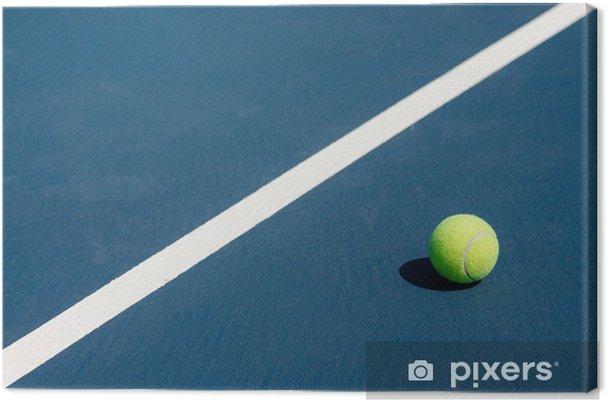 Leinwandbild Tennis Ball auf dem Tennisplatz - Einzelsportarten