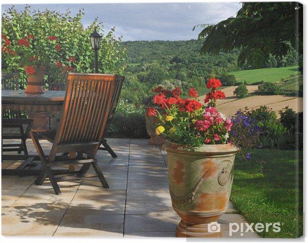 Leinwandbild Terrasse Ombragée 2 • Pixers® - Wir leben, um zu verändern