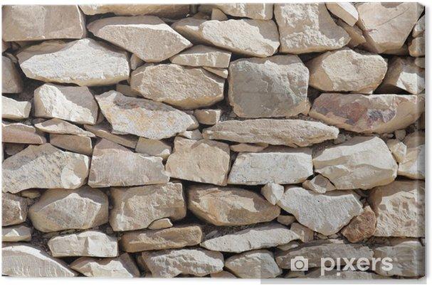 Leinwandbild Textur der Verlegung Felsen. - Texturen