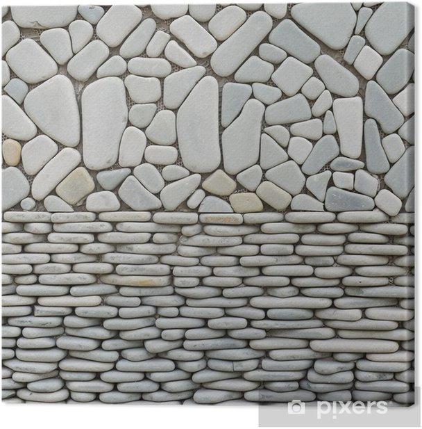 Leinwandbild Textur von Kieselsteinen Wand - Haus und Garten