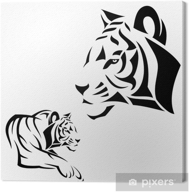 Leinwandbild Tiger Tattoo - Säugetiere