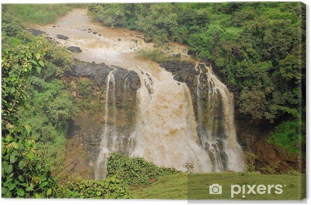 Leinwandbild Tiss abay fällt auf das Blaue Nil, Äthiopien - Afrika