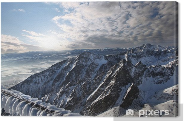 Leinwandbild Tolle Aussicht auf die Berge, die Schnee, Hohe Tatra, Slowakei - Themen
