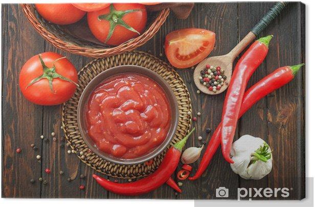 Leinwandbild Tomatenketchup - Tomaten