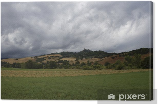 Leinwandbild Toskana Landschaft rund um Pienza, im Süden der Toskana, Italien - Europa