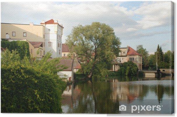 Leinwandbild Touristischen Blick auf Jurdruchuv Hradec, Czhech Republik - Europa