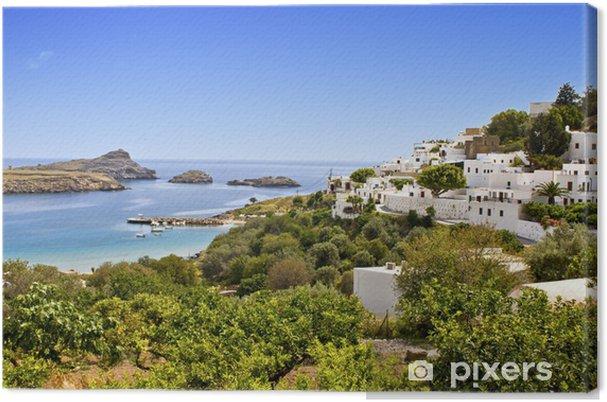 Leinwandbild Traditionelle Dorf Lindos auf der Insel Rhodos, Griechenland - Griechenland