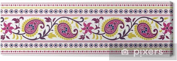 Leinwandbild Traditionelle Paisleyblumentextildesign, royal Indien - Stile