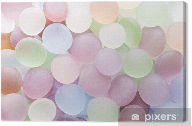 Leinwandbild Transluzenten farbigen Steinen - Stile