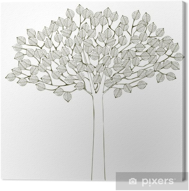 Leinwandbild Tree Background - Bäume