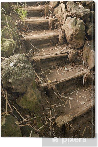 Leinwandbild Treppen im Garten japaneese Sankei und - Themen