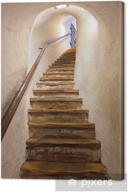 Leinwandbild Treppen im Schloss Kufstein - Österreich - Stile